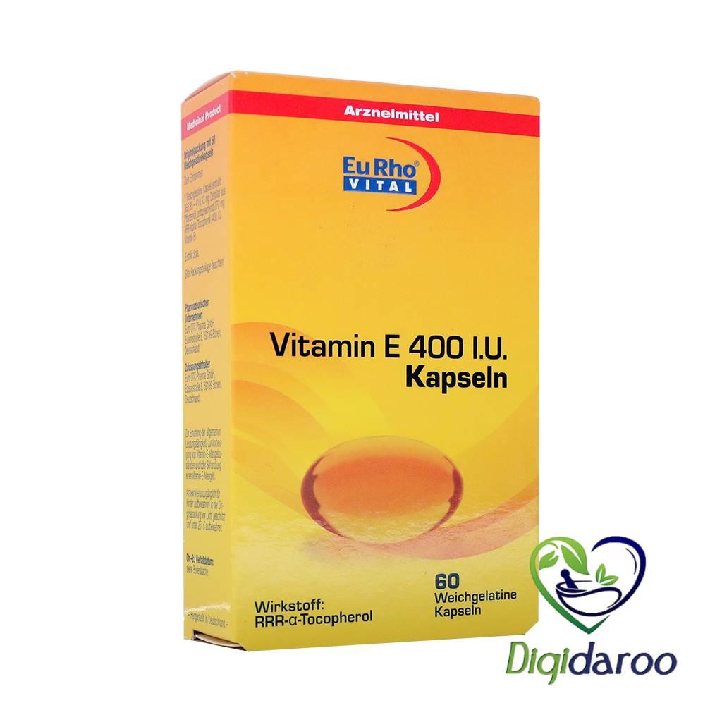 کپسول ویتامین ای 400 واحد یوروویتال